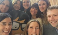 """Selfie del equipo de """"Tu primera Pega"""", con Javier Krawicki, colaboradores de la Década del Empleo Juvenil"""