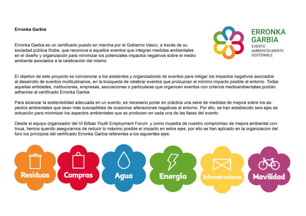 Certificado sostenible Erronka Garbia