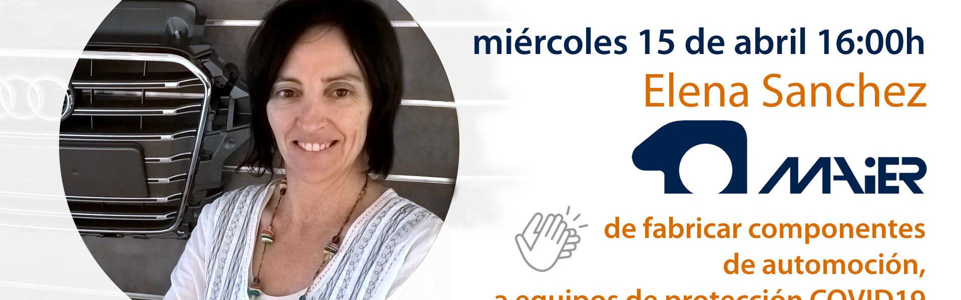 ¡Conectamos! con Elena Sánchez de Maier. Miércoles 15 abril a las 16:00h.