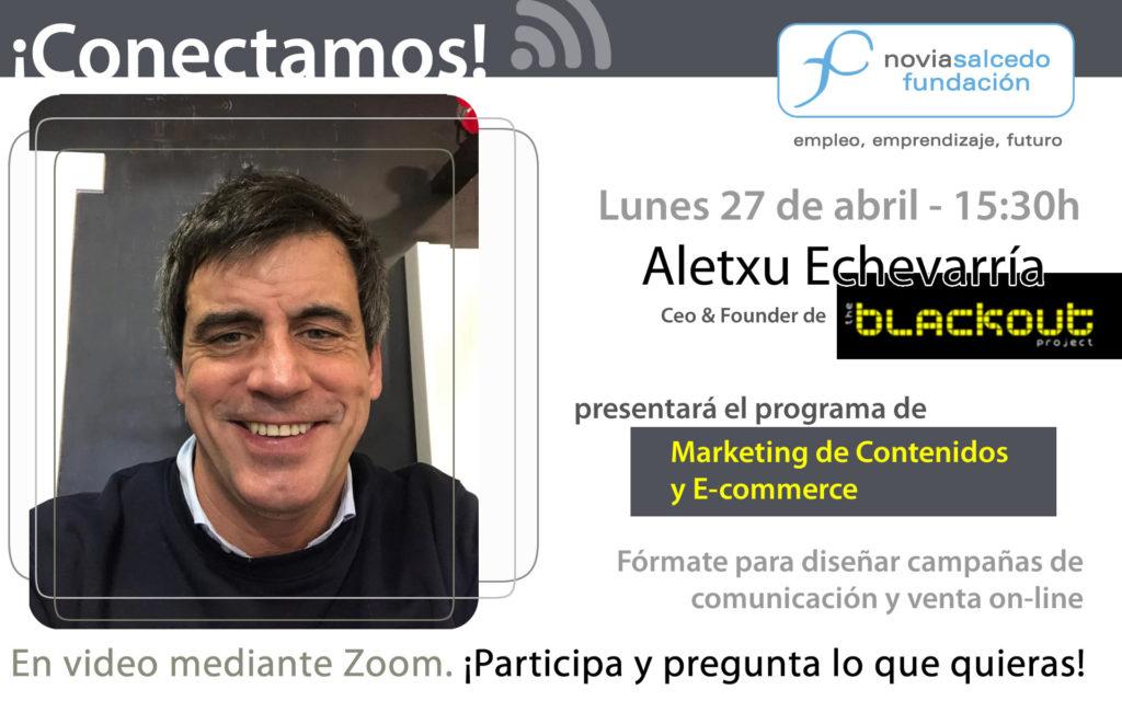 Aletxu Echevarría en Conectamos. Marketing de contenidos y E-commerce