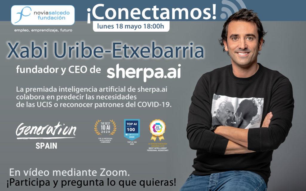 Conectamos con Xabi Uribe-Etxebarria CEO de sherpa.ai en Fundación Novia Salcedo