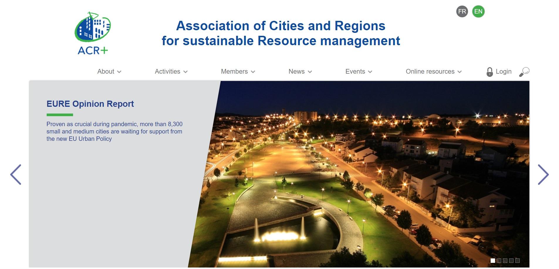 Becas Global Training Prácticas profesionales remuneradas en Association of cities and regions con Fundación Novia Salcedo